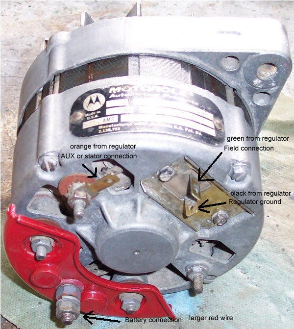 55amp motorola amc charging system and alternator amc rebel wiring diagram at edmiracle.co