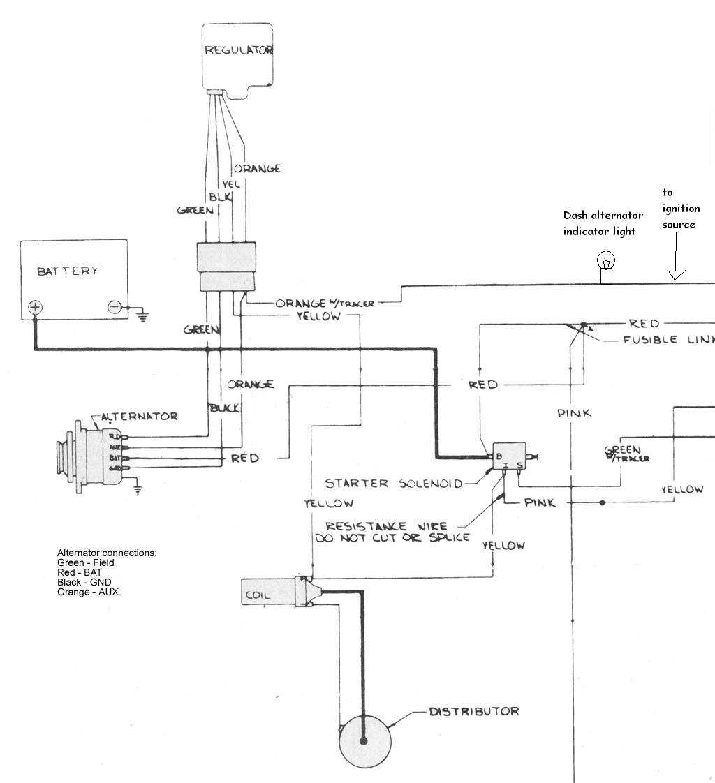 amc charging system and alternator on the right is a basic wiring diagram for 1970 amc motorola charging system this is fairly representative of most amc systems of that era